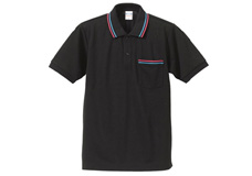 5055-01 5.3オンス ドライCVCラインポロシャツ(ポケット付)