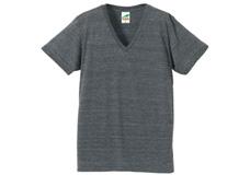 1098-01 4.4オンス トライブレンド VネックTシャツ